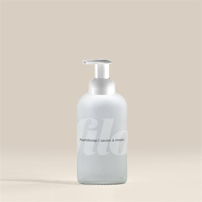 Glass Bottle with Foaming Pump 350 mL - Frosted