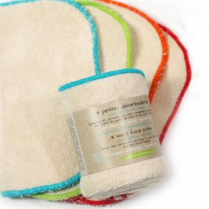 Small organic face cloths (4-pack)