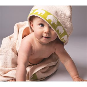 Hooded baby bath towel