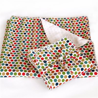 Large baby blanket - Dots
